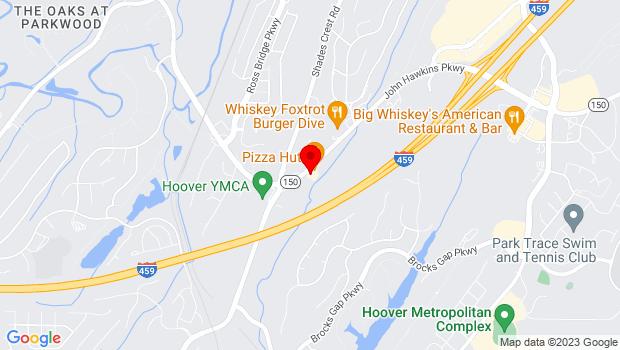 Google Map of 2304 John Hawkins Pkwy, Hoover, AL 35244