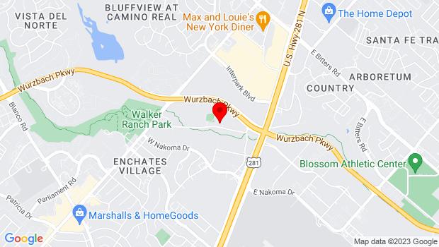 Google Map of 231 E North Loop Road, San Antonio, TX 78216