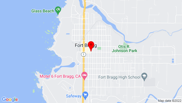 Google Map of 231 E. Redwood Ave., Fort Bragg, CA 95437