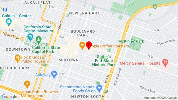 Google Map of 2315 K Street, Sacramento, CA 95816