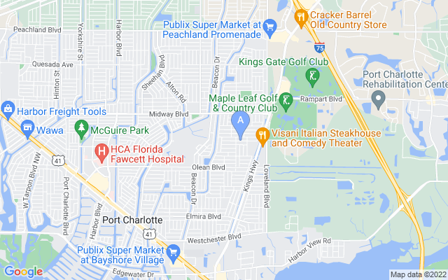 23190 Van Buren Ave Port Charlotte Florida 33980 locatior map