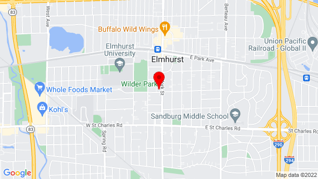 Google Map of 232 S. York St., Elmhurst, IL 60126