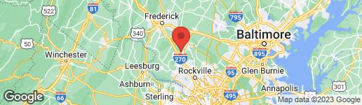 Map of 23212 RAINBOW ARCH DRIVE CLARKSBURG, MD 20871