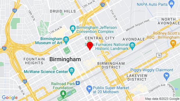 Google Map of 2324 5th Avenue North, Birmingham, AL 35203