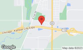 Map of 2324 Monticello Drive DEKALB, IL 60115