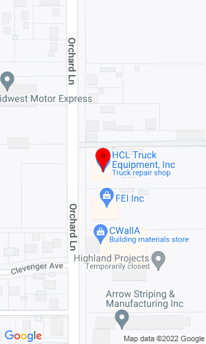 Google Map of Hcl Equipment 233 Orchard Lane, Billings, MT, 59103