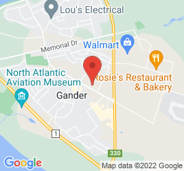 Google Map of 233+Airport+Blvd.%2CGander%2CNewfoundland+A1V+1L5