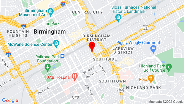 Google Map of 2330 2nd Ave S, Birmingham, AL 35233