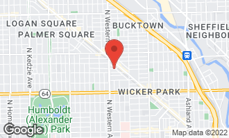 Map of 2331 West Moffat Street CHICAGO, IL 60647