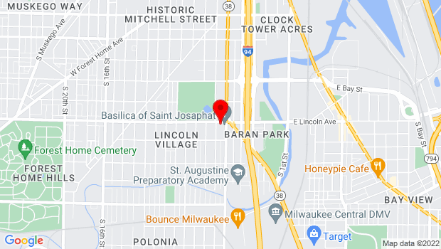Google Map of 2333 S. 6th Street, Milwaukee, WI 53215
