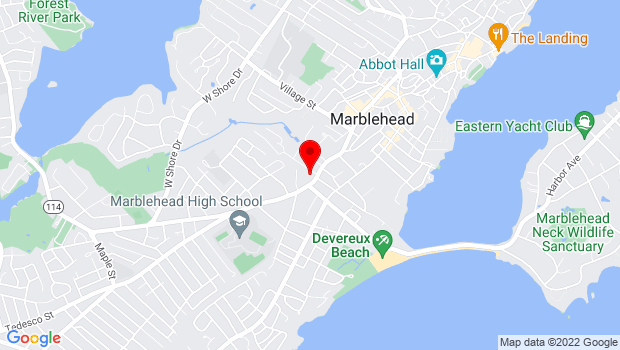 Google Map of 235 Pleasant Street, Marblehead, MA 01945