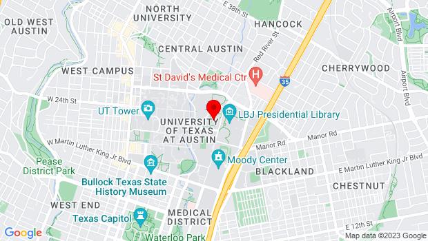 Google Map of 2350 Robert Dedman Dr., Austin, TX