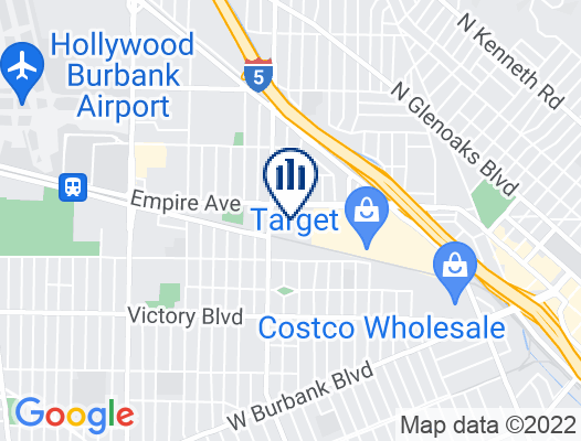 Google Map of 2350 West Empire Drive Suite 200 Burbank, CA 91504