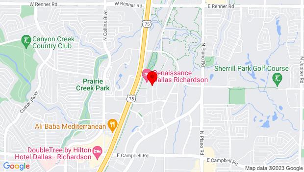 Google Map of 2351 Performance Dr., Richardson, TX 75082