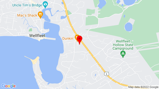 Google Map of 2357 State Highway Rte. 6, Wellfleet, MA