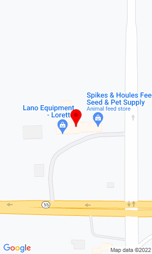 Google Map of Lano Equipment, Inc. 23580 Highway 55, Loretto, MN, 55357