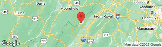 Map of 236 MORRIE DR. BASYE, VA 22810