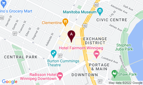 map of Winnipeg Free Press News Cafe