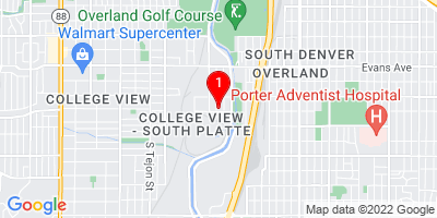 Google Map of 2390 S Kalamath St Unit C Denver, CO 80223