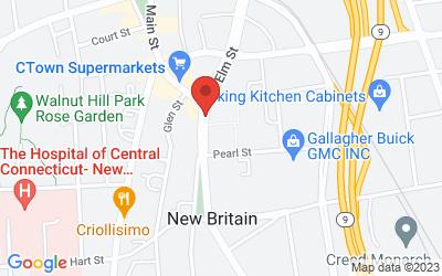 Map of New Britain Superior Court