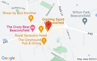 Map of Beaconsfield BUCKINGHAMSHIRE