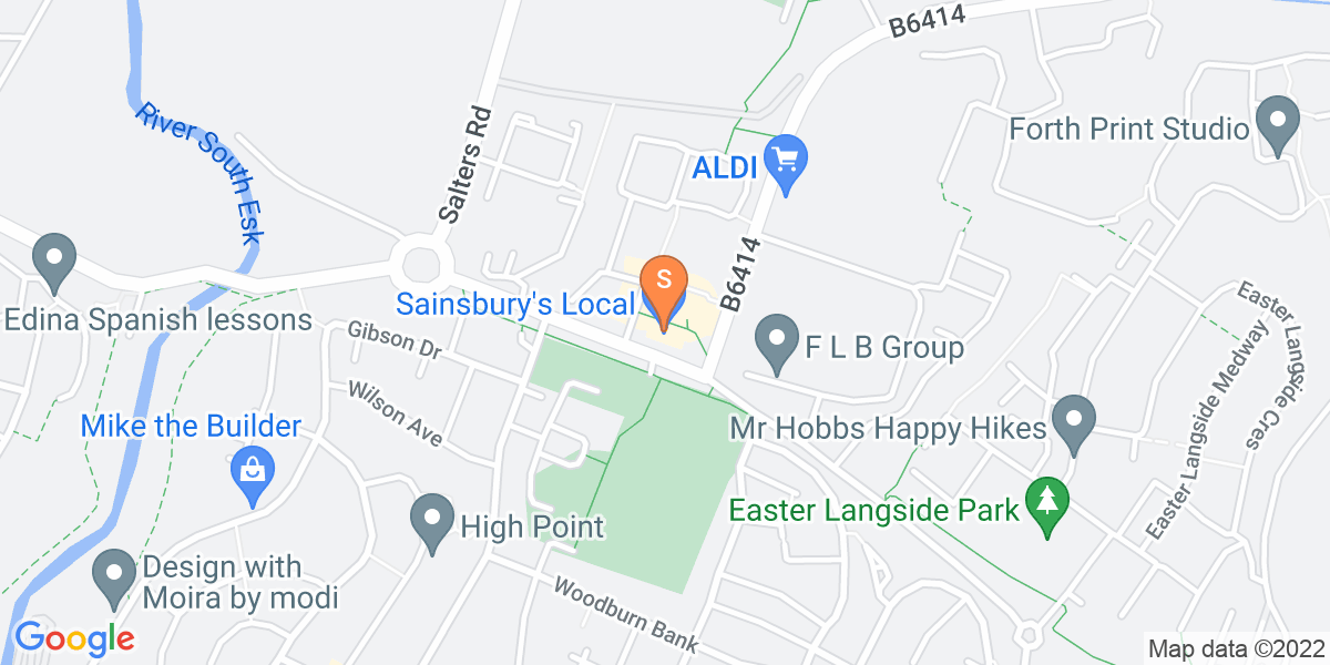 Google Map of 24 Thorny Rook GardensDalkeith Edinburgh EH22 2NQ