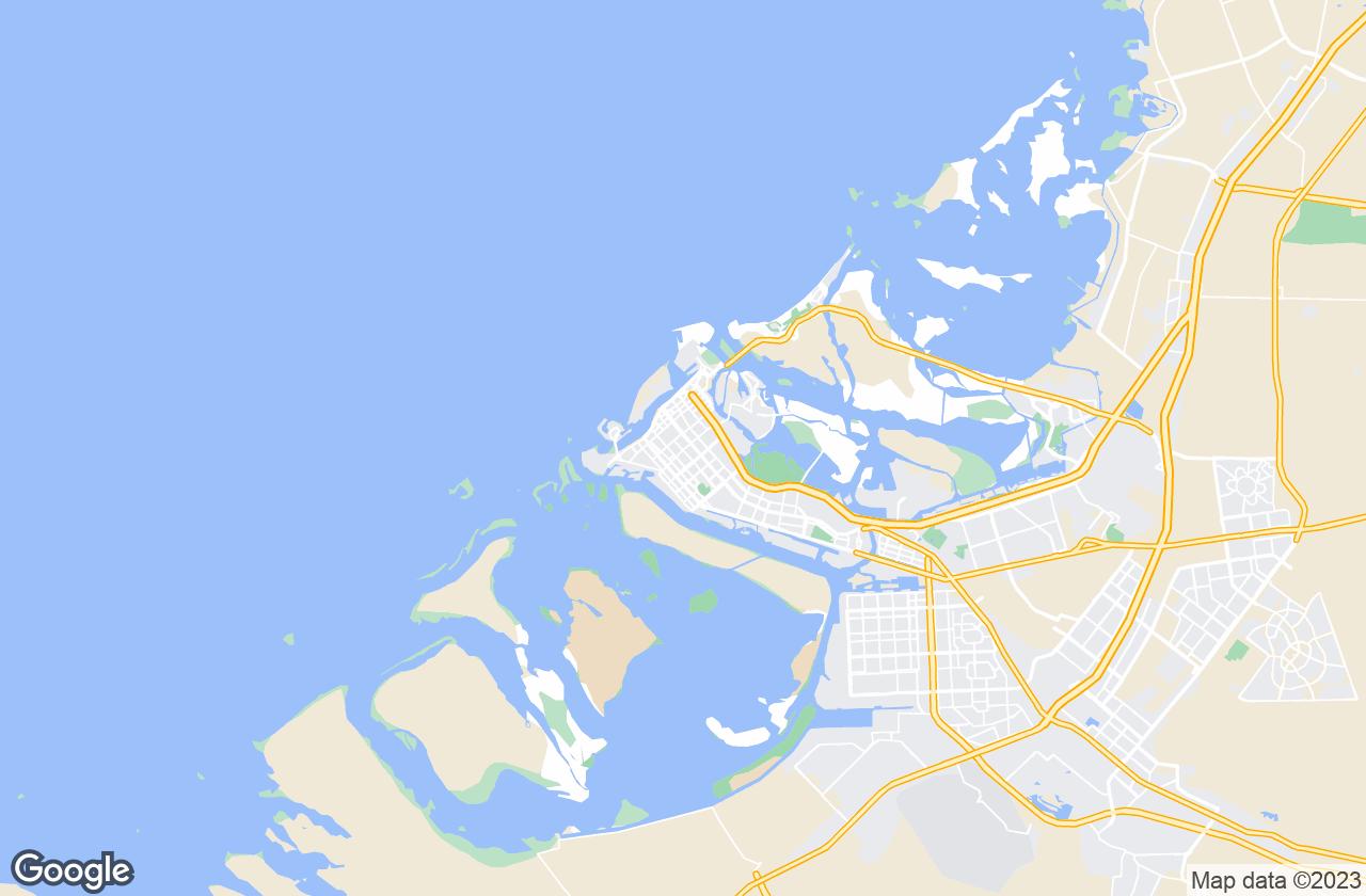Google Map of أبو ظبي