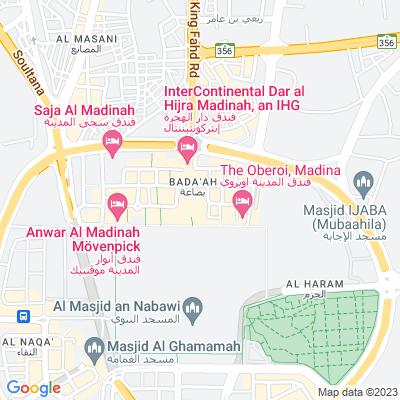 خريطة فندق فندق شذا المدينة