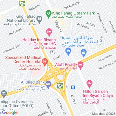 خريطة فندق فندق الواحة بالاس