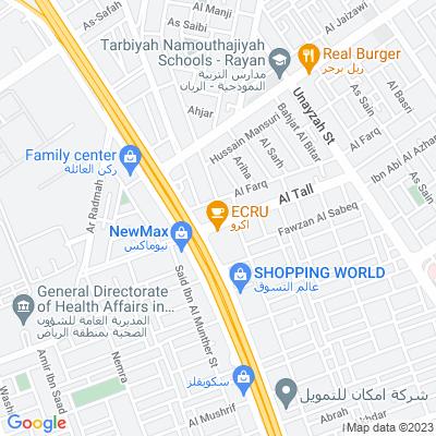 خريطة فندق نزل الريان للوحدات السكنية