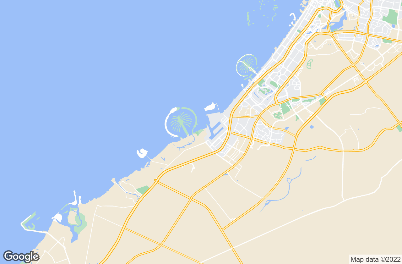 Google Map of جبل علي