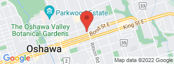 Google Map of 240+Bond+Street+East%2COshawa%2COntario+L1H+7L3