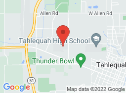 Location of Tahlequah Campus on a map