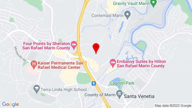 Google Map of 240 Channing Way, San Rafael, CA 94901
