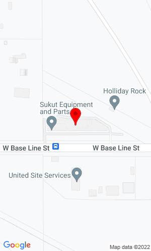Google Map of Sukut Equipment Inc. 2400 W Baseline Street, San Bernardino, CA, 92410