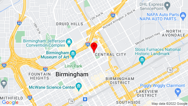 Google Map of 2400 7th Avenue North, Birmingham, AL 35203