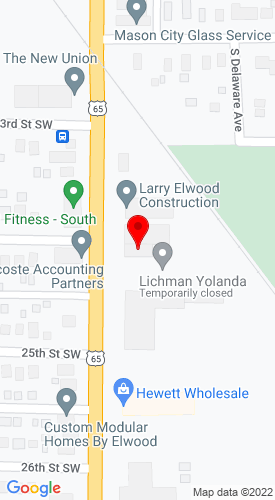 Google Map of Larry Elwood Construction 2401 S Federal Avenue, Mason City , IA, 50401