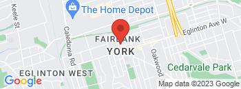 Google Map of 2401+Dufferin+Street%2CToronto%2COntario+M6E+3S7