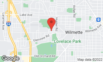 Map of 2404 South Meadow Drive South WILMETTE, IL 60091