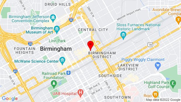 Google Map of 2409 Second Avenue North, Birmingham, AL 35203