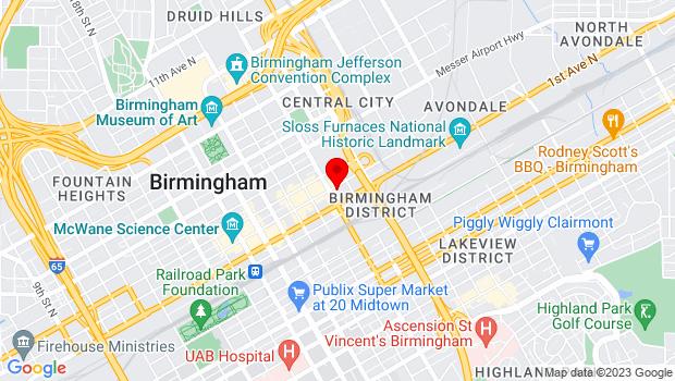 Google Map of 2409 2nd Avenue North, Birmingham, AL 35203-3809, Birmingham, AL 35203