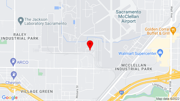 Google Map of 2409 Dean St., McClellan Park, CA 95652