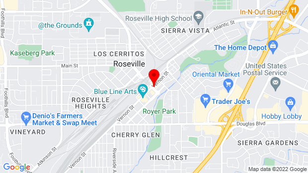 Google Map of 241 Vernon St., Roseville, CA 95678