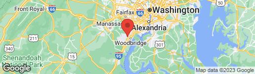 Map of 2414 DREXEL STREET WOODBRIDGE, VA 22192