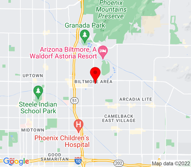 Click to view Google maps office address 2415 E. Camelback Rd., #700, Phoenix, AZ 85016
