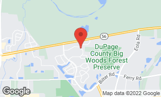 Map of 2415 Blue Spruce Lane AURORA, IL 60502