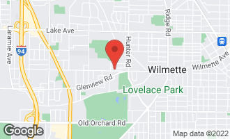 Map of 2419 Meadow Drive South WILMETTE, IL 60091
