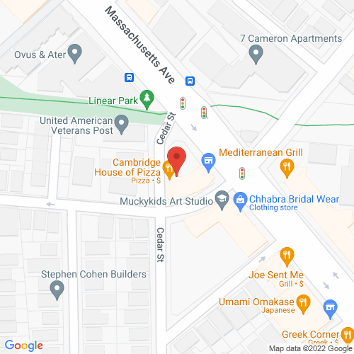 Map of the area around Cambridge House of Pizza