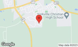 Map of 2421 Fitzhugh Turn YORKVILLE, IL 60560