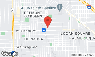 Map of 2428 North Harding Avenue CHICAGO, IL 60647